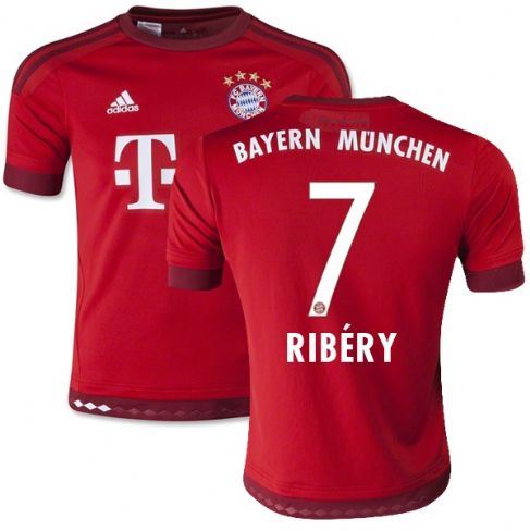 Maillot Bayern Munich RIBERY 7 domicile maillots de football pas cher 2015 2016
